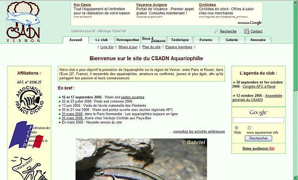 CSADN Aquariophilie