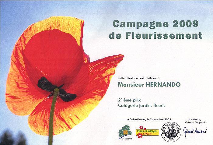 Campagne 2009 de fleurissement
