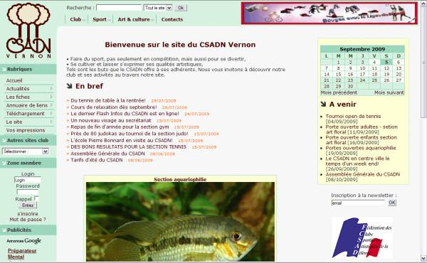Site du CSADN Vernon