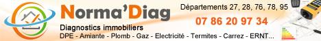 Norma'Diag, diagnostics immobiliers (DPE, plomb, amiante, électricité, gaz, Ernmt, copropriété...), le partenaire de vos transaction, sur Vernon et sa région (Eure, Yvelines, Val d'Oise)