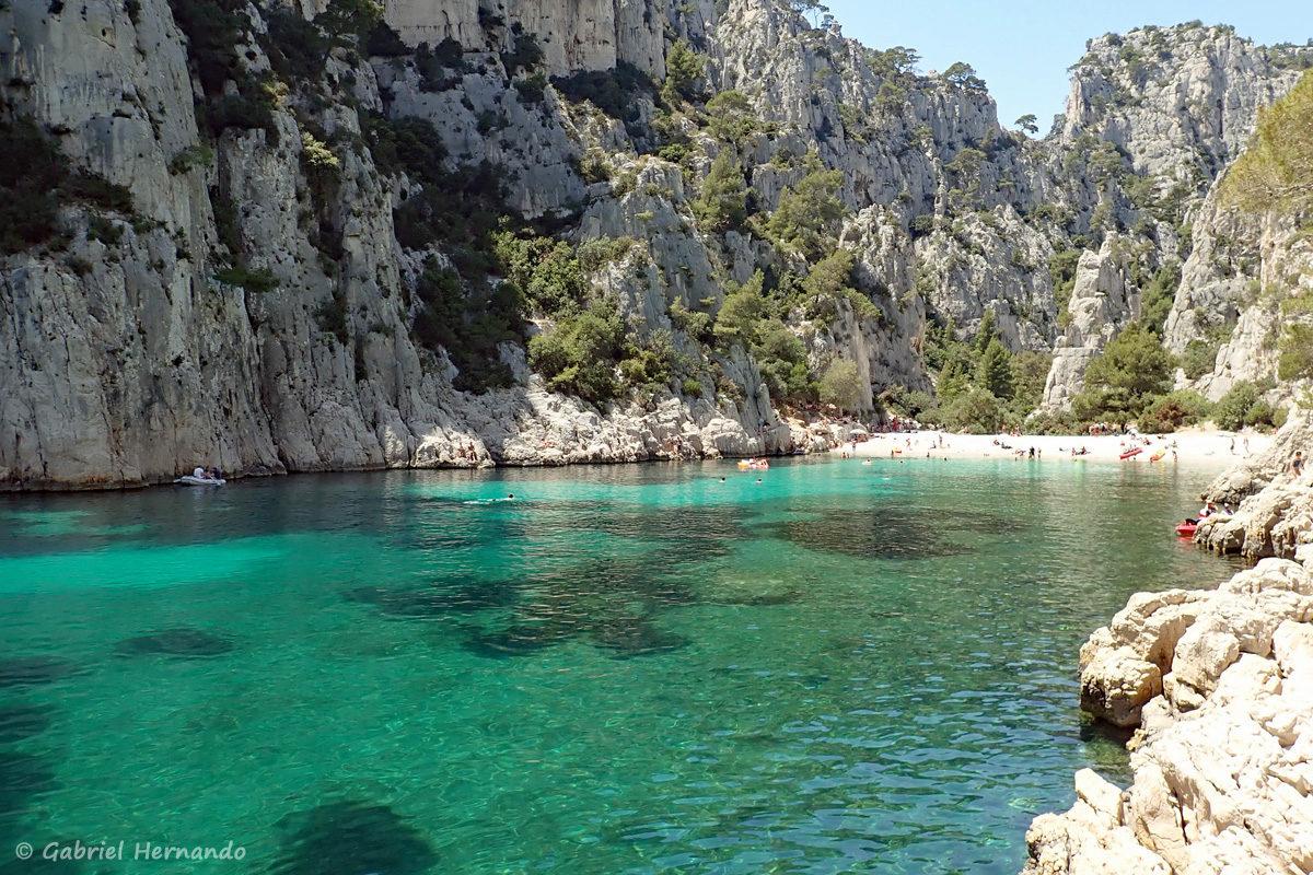 Calanque d'En-Vau, photographiée en juin 2019, certainement la plus belle calanques entre Marseille et Cassis.