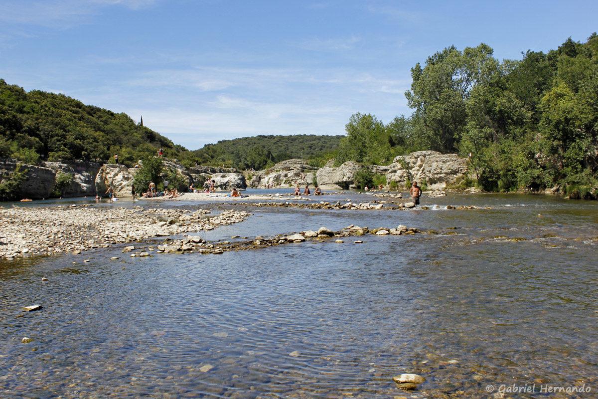 La cèze, en aval des cascades du Sautadet, à la Roque-Sur-Cèze