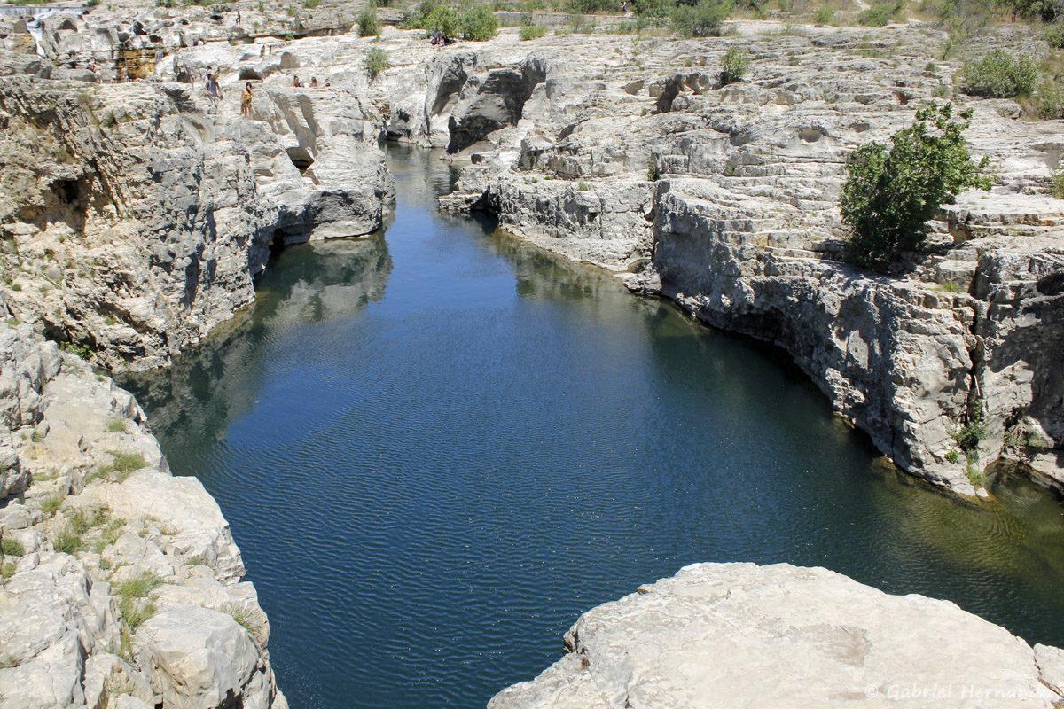 Le canyon, en aval des cascades du Sautadet