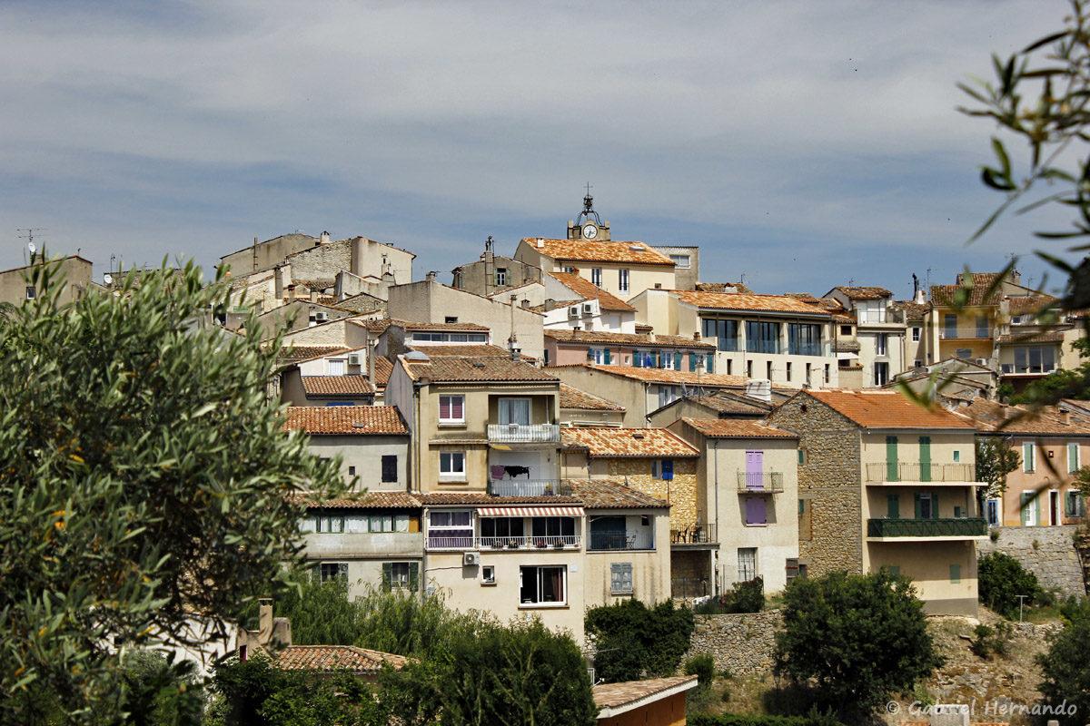Vue sur la ville de Gréoux Les Bains