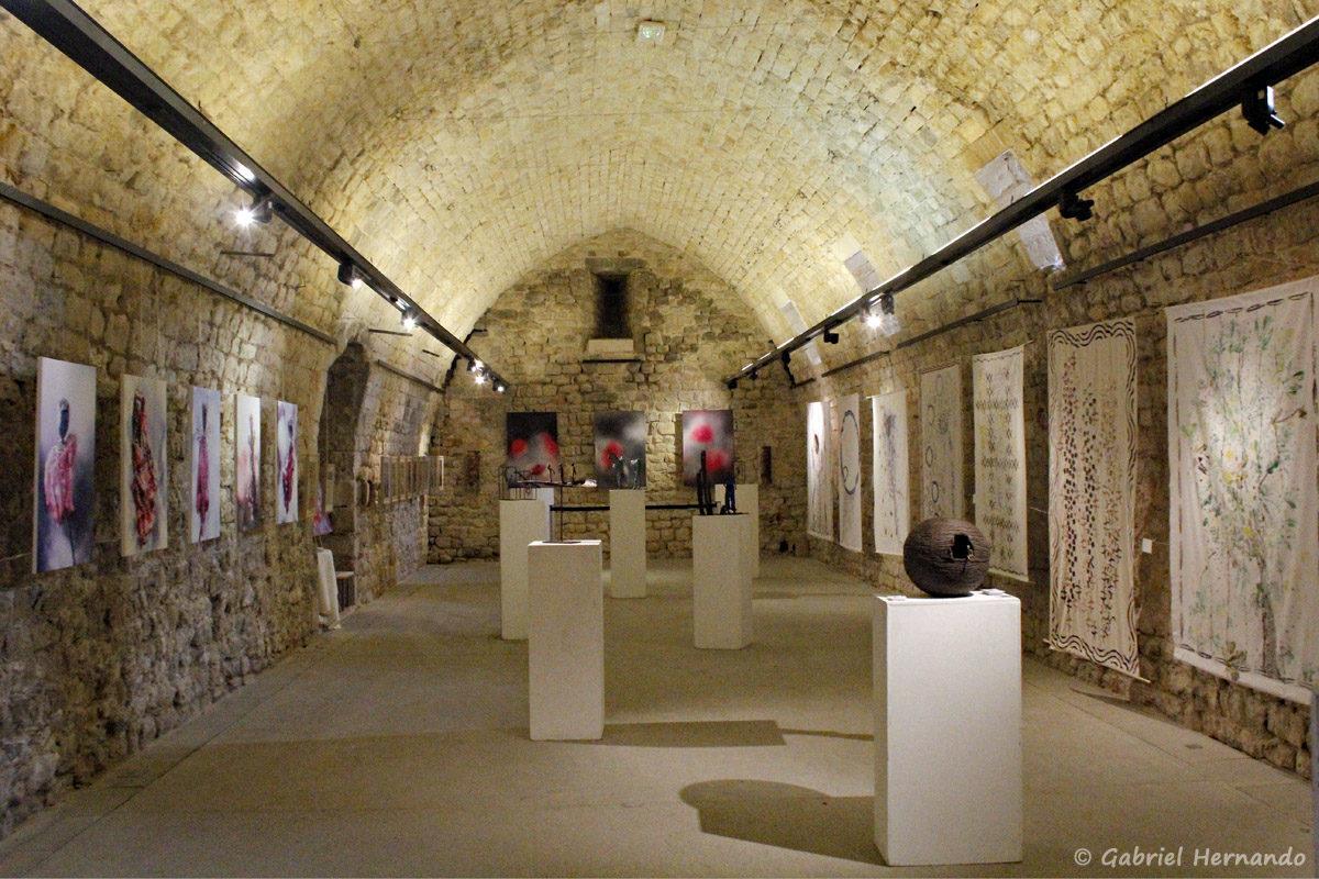 Salle d'exposition dans le château de Gréoux Les Bains