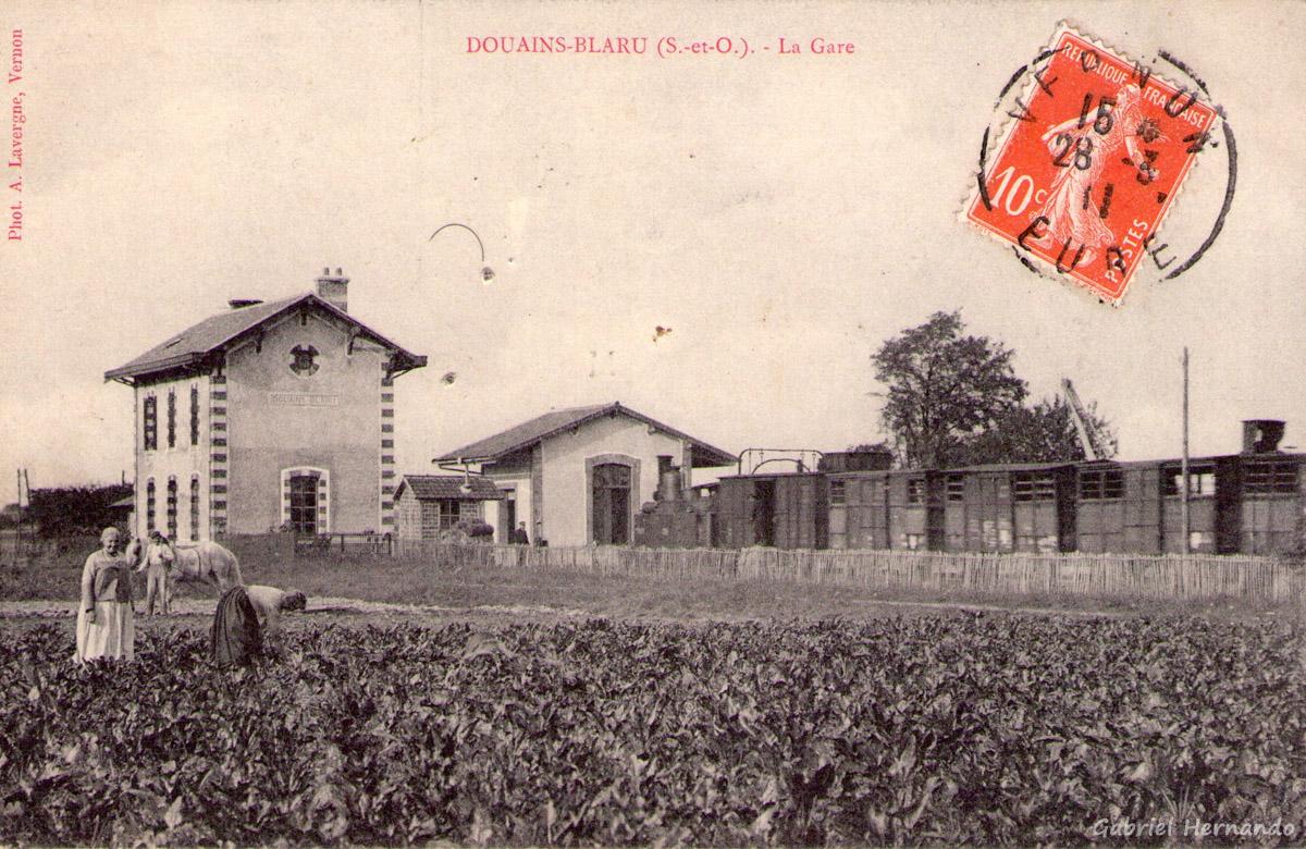 Douains-Blaru, 1911 - La gare