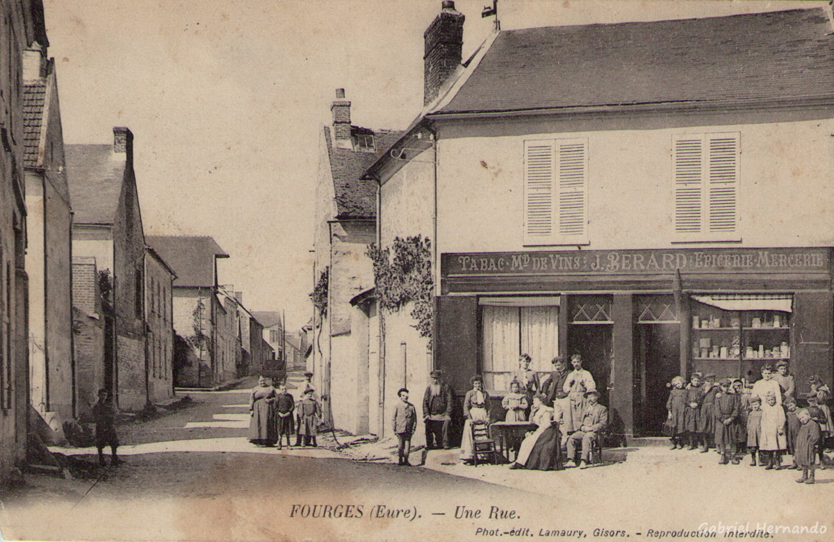Fourges, 1905 - Une rue