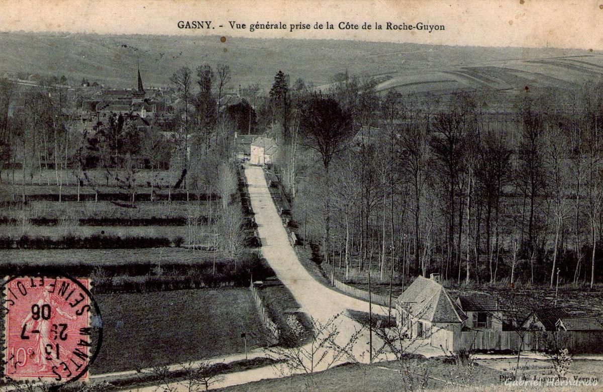 Gasny, 1906 - Vue générale prise de la côte de la Roche-Guyon