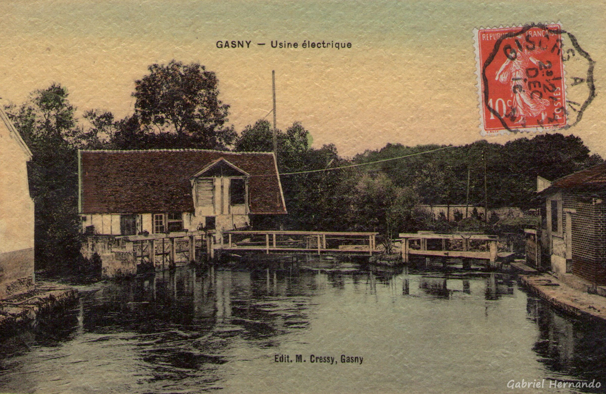 Gasny, 1916 - Usine électrique