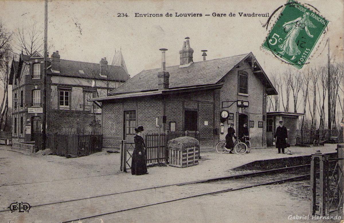 Le Vaudreuil, 1908 - Environs de Louviers, Gare de Vaudreuil