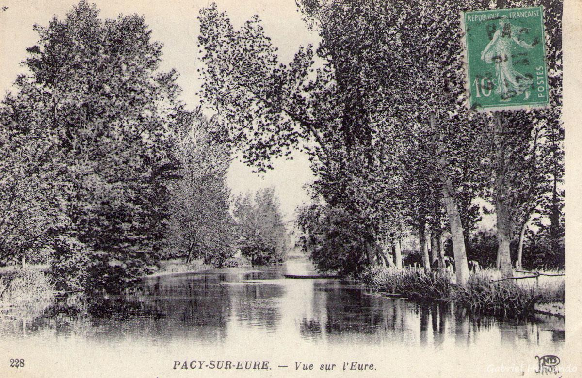 Pacy-sur-Eure, 1922 - Vue sur l'Eure