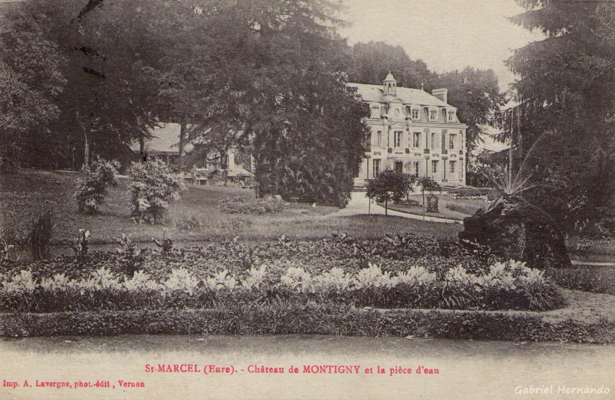 Saint-Marcel, 1917 - Château de Montigny et la pièce d'eau