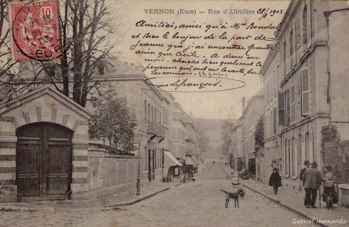 Vernon, 1903 - Rue d'Albuféra