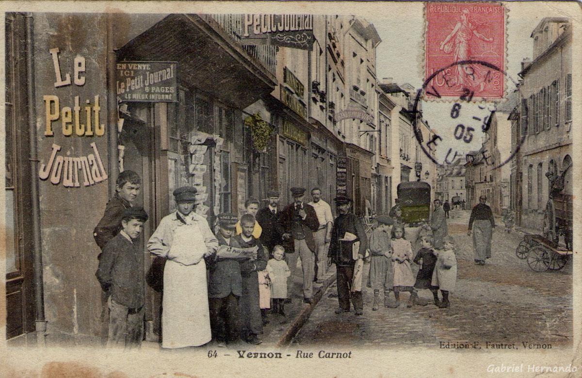 Vernon, 1906 - Rue Carnot