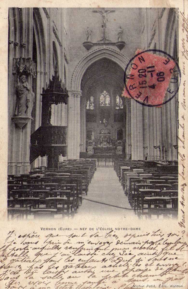 Vernon, 1906 - Nef de l'Eglise Notre-Dame