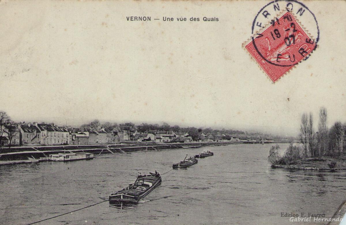 Vernon, 1907 - Une vue des quais