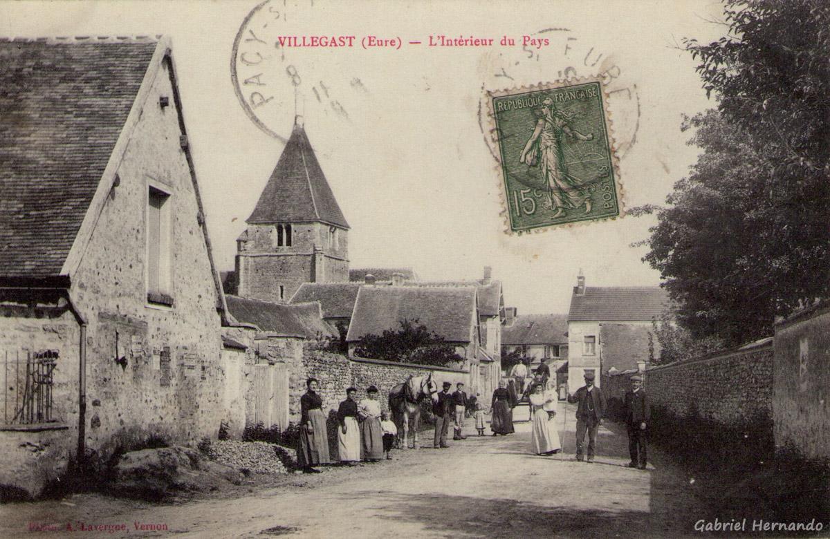 Villégat, 1918 - Villégast - L'intérieur du Pays