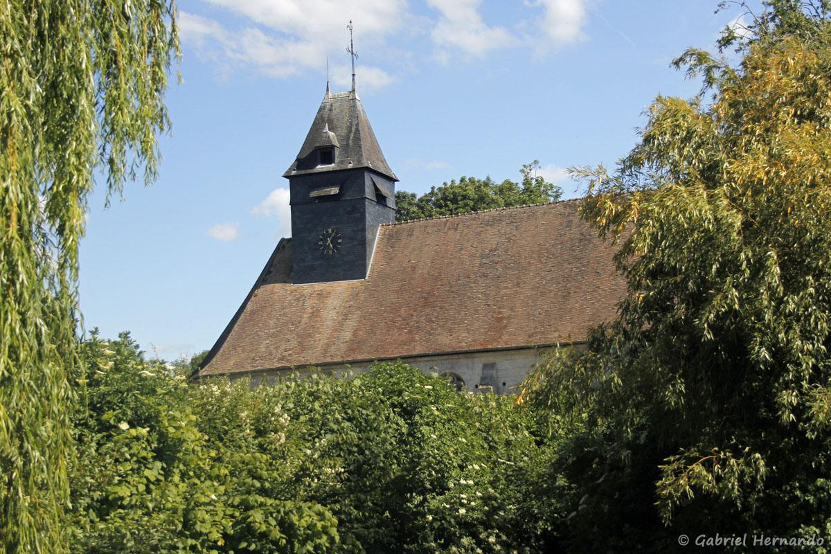 Le clocher de l'église de Croisy-sur-Eure