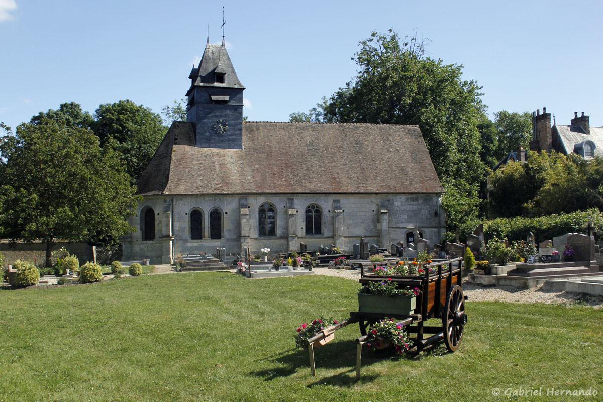L'église de Croisy-sur-Eure et son cimetière
