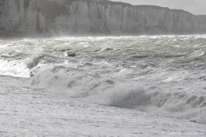Mer agitée à Fécamp (octobre 2017)