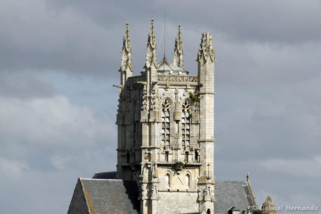 Clocher de l'église Saint-Étienne (Fécamp, août 2020)