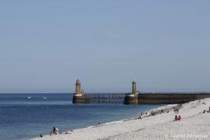 La plage et la digue de Fécamp (septembre 2020)