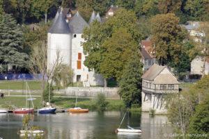 Les tourelles et le vieux moulin, vus de la tour des archives (Vernon, journées du patrimoine, septembre 2020)